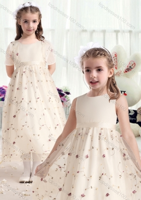 New Arrival Empire Scoop Flower Girl Dresses with Belt