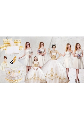 Discount Strapless Quinceanera Dresses and Lovely Scoop Mini Quinceanera Dresses and Beautiful Champagne Short Dama