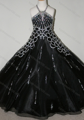 Cheap Beaded Decorated Halter Top and Bodice Mini Quinceanera Dresses in Black