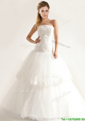 Stylish Mermiand Wedding Dresses with Appliques and Beading