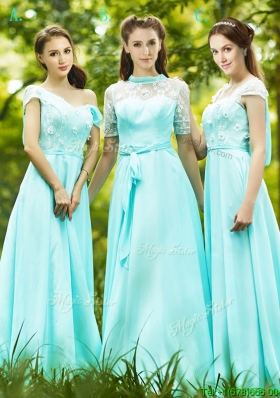 Elegant  Chiffon Empire Long Mother Dresses  in Apple Green
