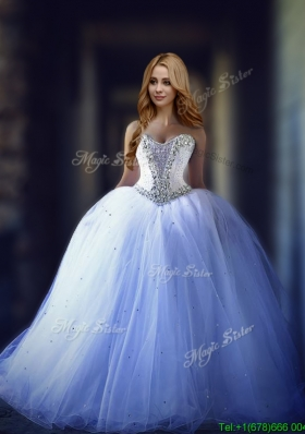 Discount Really Puffy Sweetheart Wedding Dress with Beading