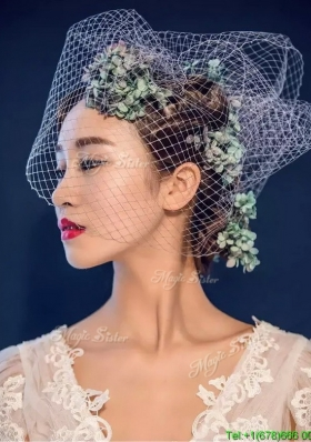 Classical Hand Made Flowers and Net Yarn Headpieces for Women