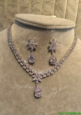 Gorgeous Weding Jewelry Set with Rhinestone and Beading