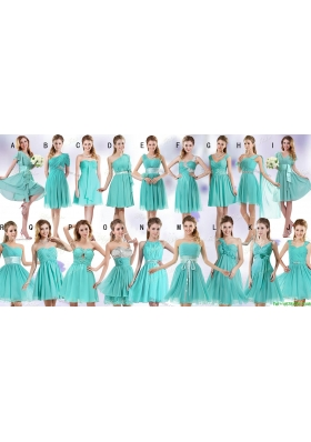 Gorgeous Empire Apple Green Bridesmaid Dresses in Mini Length