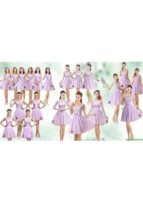 New Arrivals Empire Mini Length Bridesmaid Dresses in Lilac