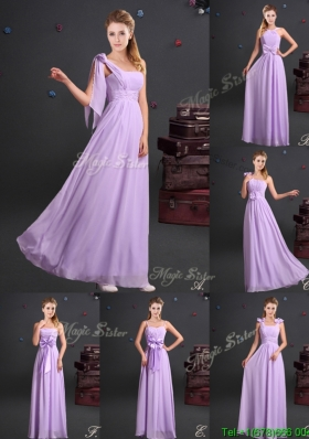Top Seller Empire Chiffon Long Prom Dress with Ruching