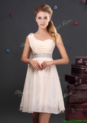 Designer Empire Chiffon Bridesmaid Dress with Sequined Decorated Waist