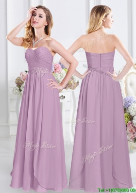 2017 Pretty Sweetheart Zipper Up Lavender Dama Dress in Floor Length