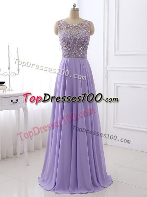 Gorgeous Sleeveless Beading Zipper Evening Dress