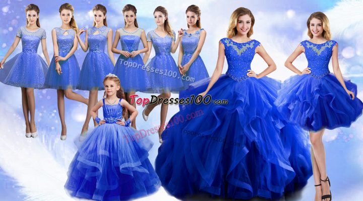 Glittering Sleeveless Lace Up Floor Length Beading and Ruffles Ball Gown Prom Dress