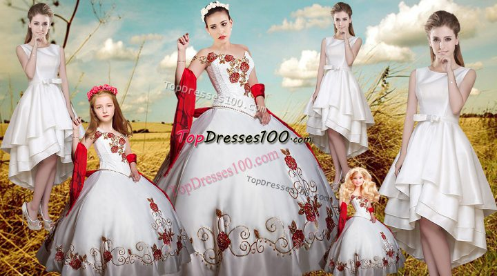 Shining Floor Length Ball Gowns Sleeveless White 15 Quinceanera Dress Lace Up