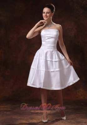 Simple Taffeta A-line Knee-length Bridesmarid Dress For Custom Made In Dublin Georgia
