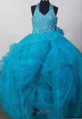 Exquisite Little Girl Pageant Dresses With Beaded Decorate Bodice and Hand Made Flowers  Pageant Dresses