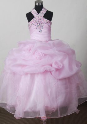 Baby Pink Beading and Pick-ups For Little Girl Pageant Dresses  Pageant Dresses