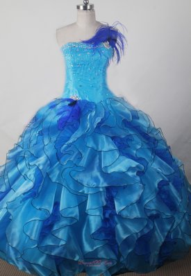 Exquisite Beading and Ruffles Decorate Bodice Ball Gown Little Girl Pageant Dress Strapless Floor-length  Pageant Dresses