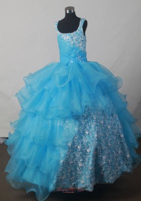 Luxurious Ball Gown Scoop Floor-length Little Girl Pageant Dress  Pageant Dresses