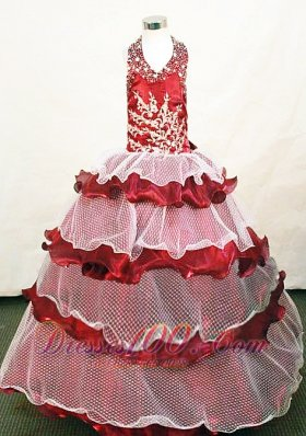 Custom Made Exclusive Halter Top Little Girl Pageant Dresses Hottest 2013  Pageant Dresses