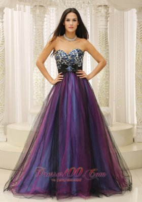 2013 Leopard Sweetheart and Belt For Dama Dresses for Quinceanera Colorful Tulle In Texas