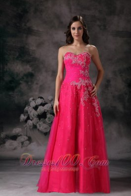 2013 Prettz Hot Pink A-line Sweetheart Formal Prom Dress with Beading