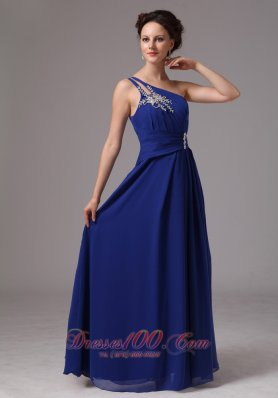 Best Royal Blue One Shoulder Appliques Prom / Evening Dress For Prom Party In Lithonia Georgia
