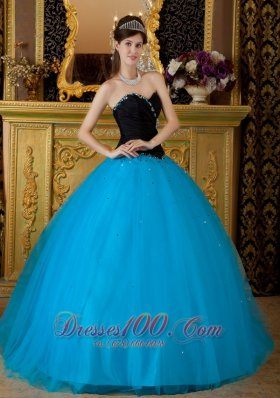 Discount Exquisite Teal Quinceanera Dress Sweetheart Beading Tulle Ball Gown