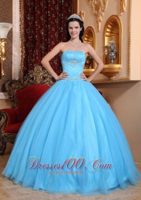 Discount Classical Aqua Blue Quinceanera Dress Sweetheart Tulle and Taffeta Beading Ball Gown