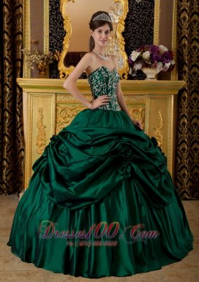 Dark Green Quinceanera Dresses,Hunter Green Ball Gowns