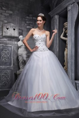 Lovely White Quinceanera Dress Sweetheart Taffeta and Tulle Beading A-Line / Princess Pretty