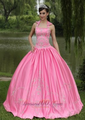 Rose Pink 2013 New Arrival Square Neckline Beaded Decorate For Quinceanera Dress Pretty