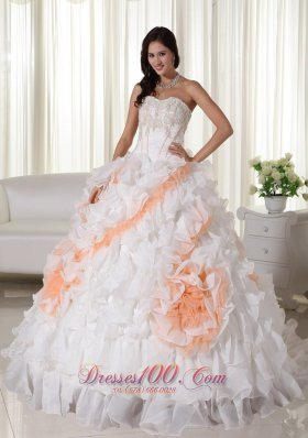 Puffy Ball Gown Quinceanera Dress With Appliques Decorater Waist In Carmel California
