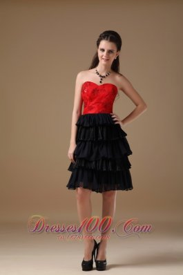 Red and black dresses for teens