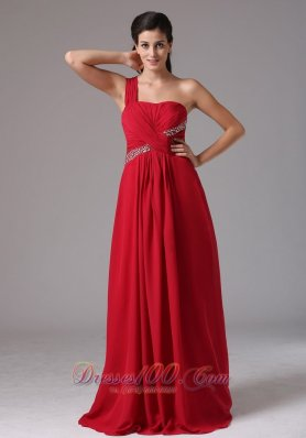 Stylish Wine Red One Shoulder Beading and Ruch 2013 Prom Dress In Naugatuck Connecticut