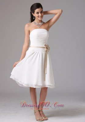 East Hartford Connecticut Simple Empire Strapless Bridesmaid Dress With Sash Ruched Decorate Bust Knee-length  Dama Dresses