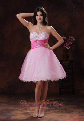 2013 Beadeded Decorate Multi-color Organza Sweetheart A-line Short Prom Dress In Scottsdale Arizona