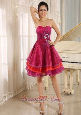 2013 Multi-color Sweetheart Short Prom Dress For Sweet 16 Prom With Organza Beaded Decorate In Aliceville California