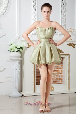 Olive Green A-line Sweetheart Cocktail Dress Ruch Mini-length Taffeta Under 100