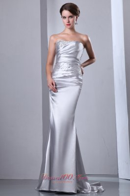 Images of silver evening dresses