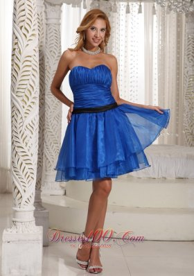 Design Own Plus Size Prom Dress Ruched Bodice With Sweethart Peacock Blue Mini-length  Cocktail Dress