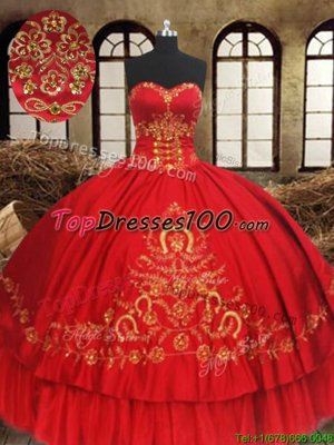 Sleeveless Lace Up Floor Length Beading and Embroidery Vestidos de Quinceanera