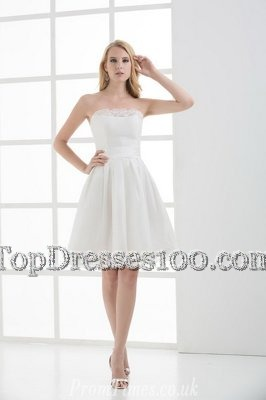 Ideal White A-line Lace Wedding Dresses Lace Up Lace Sleeveless Mini Length