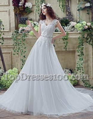 White Strapless Lace Up Lace and Appliques Wedding Gown Court Train Sleeveless