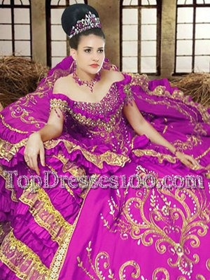 Off The Shoulder Sleeveless Lace Up Quinceanera Dress Purple Satin