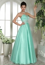 Apple Green Sweetheart Beaded and Rhinestones  Prom Dress For Custom Made