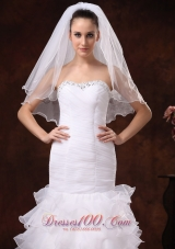 Tulle Ribbon Ribbon Edge Edge Bridal Veil For Wedding