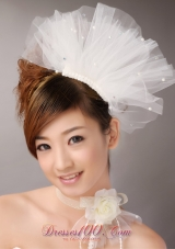 Tulle Hair Combs Imitation Pearls Wedding and Special Occasion