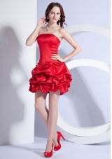 Beading Decorate Bodice A-line Mini-length Strapless 2013 Prom Dress