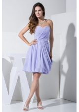 Beautiful Lilac Prom / Cocktail Dress For 2013 Knee-length Ruch