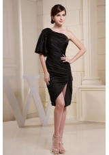 One Shoulder and Short Sleeve For Prom Dress