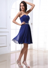 Sweetheart Beading and Royal Blue For Simple Prom Dress